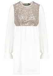 Swing Cocktail Dress Party Dress Ivory Gold Off White
