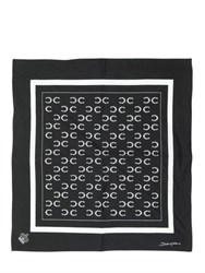 Dolce And Gabbana Horseshoe Printed Cotton Poplin Bandana