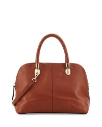 Cole Haan Benson Large Leather Dome Satchel Bag Woodbury