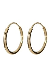 Candela 14K Yellow Gold 10Mm Endless Hoop Earrings