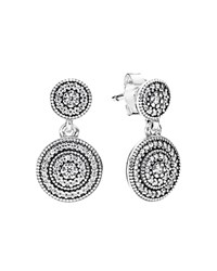 Pandora Design Pandora Drop Earrings Sterling Silver And Cubic Zirconia Radiant Elegance