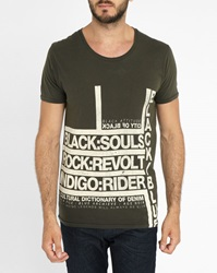 Selected Black Shsoul Printed Round Neck T Shirt