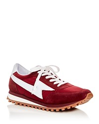 Marc Jacobs Runner Lace Up Sneakers Maroon