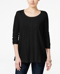 Styleandco. Style Co. Long Sleeve Swing Top Only At Macy's Deep Black