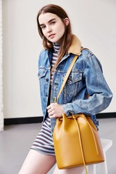 Cooperative Structured Bucket Bag Yellow