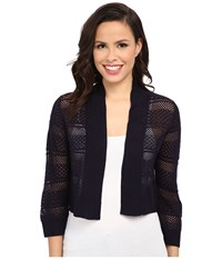 Rsvp Bre Crochet Shrug Navy Women's Sweater