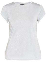 Ted Baker Misy Fitted Sparkle T Shirt Pale Blue