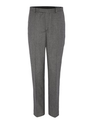 New And Lingwood Hollow Dogtooth Suit Trouser Grey