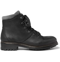 O'keeffe Alvis Waxed Suede Hiking Boots Black