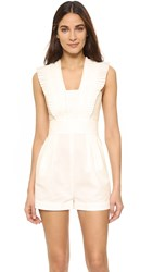 Tibi Pleated Romper White
