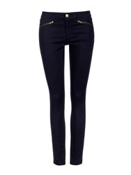 Wallis Denim Skinny Zip Hem Trouser Denim Indigo