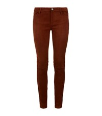 Maje Paft Suede Trousers Female Camel