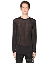 Diesel Black Gold Sheer Fine Cotton And Viscose Sweater
