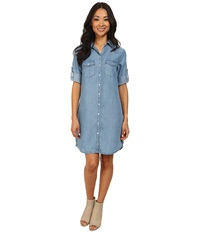 Kut From The Kloth Ruthy Button Front Shirt Dress Vintage Wash Women's Long Sleeve Button Up Navy