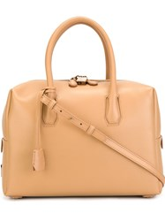 Mcm Large 'Milla' Tote Nude And Neutrals