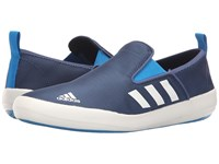 Adidas B Slip On Dlx Mineral Blue White Solar Blue Men's Shoes
