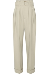 Marc Jacobs High Rise Wool Gabardine Wide Leg Pants