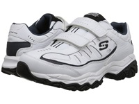 Skechers Afterburn M. Fit Stike On White Navy Men's Lace Up Casual Shoes
