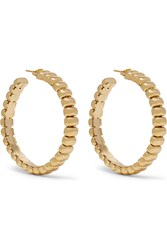 Rosantica Atena Gold Tone Hoop Earrings