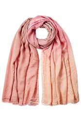 Faliero Sarti Ombre Scarf With Silk Pink