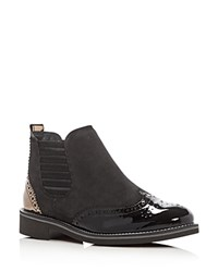 Paul Green Jordy Brogue Booties Black Multi