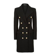 Balmain Slim Wool Cashmere Coat Female Black