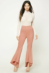 Forever 21 High Low Flared Satin Pants