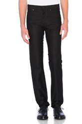 Lanvin Denim Skinny Pants In Black