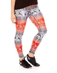 Zara Terez Fair Isle Performance Leggings Orange Multi