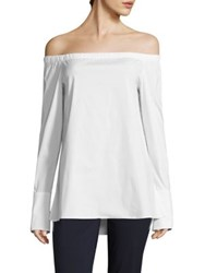Lafayette 148 New York Amy Off The Shoulder Blouse White