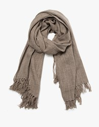 Wool Scarf In Natural