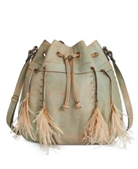 Patricia Nash Washed Denim Picerno Drawstring Crossbody Light Denim