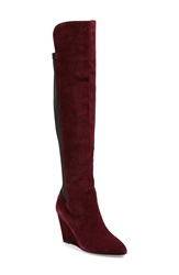 Charles By Charles David 'Edie' Over The Knee Boot Women Burgundy Suede