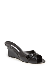 Manolo Blahnik 'Tailowe' Wedge Slide Black