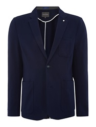 Peter Werth Marl Act Button Blazer Navy