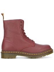 Dr. Martens Combat Boots Red