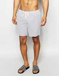New Look Striped Swim Shorts In Blue And White Blue