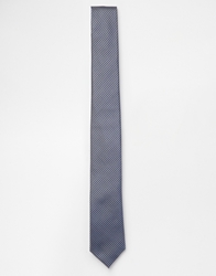 French Connection Gingham Slim Tie Blue