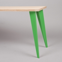 Petites Production Pair Table Legs Green