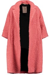Roksanda Ilincic Adler Oversized Wool Blend Boucle Coat Pink