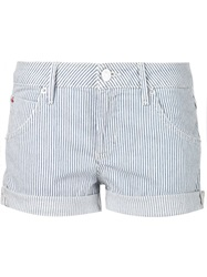 Hudson Pinstriped Denim Shorts