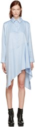 Marques Almeida Blue Asymmetric Shirt Dress