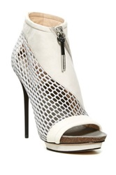 L.A.M.B. Bicara Leather Platform Bootie White