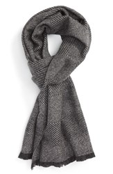 Nordstrom Men's Exploded Texture Stripe Wool Scarf