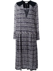 See By Chloe Striped Print Shift Dress Multicolour