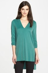 Trouve Textured Knit Tunic Green