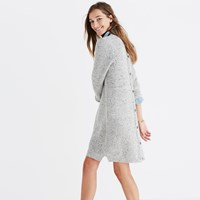 Madewell Button Back Sweater Dress In Donegal Grey Donegal Sterling