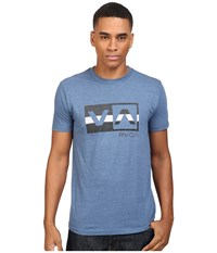 Rvca Session Balance Box Tee Stellar Men's T Shirt Blue