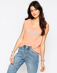 Wildfox Couture Wildfox St.Thomas Sleeveless Tank Top Coralshell