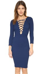 House Of Holland X Hunza Lace Front Dress Navy
